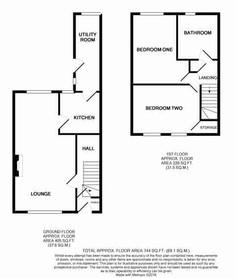 Floorplan of Dart Grove, Longhill, Hull, HU8 9NJ
