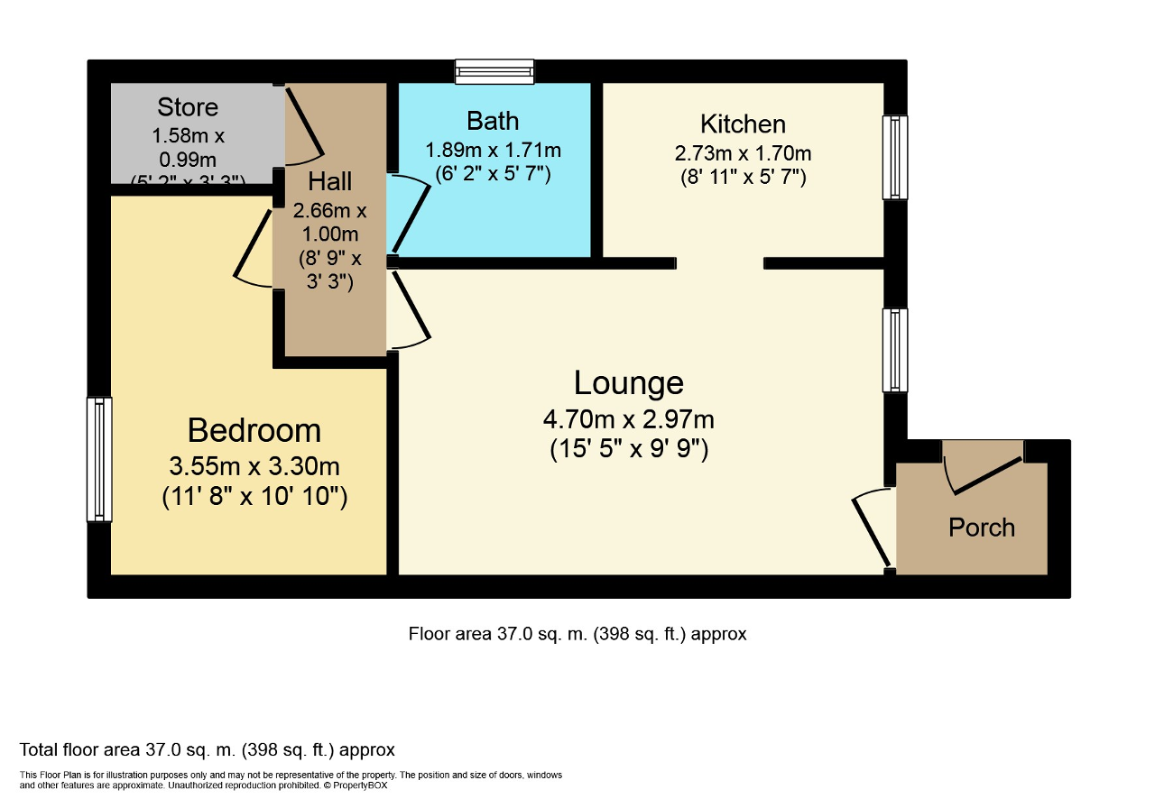 Floorplan of Trinity Court, Castle Street, Hull, HU1 2LY