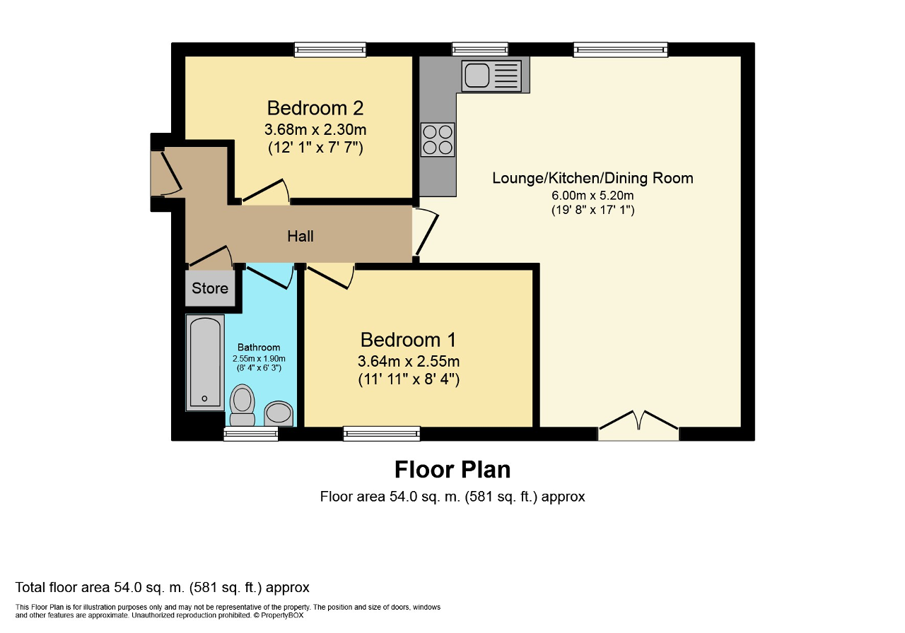 Floorplan of Lancelot Court, Victoria Dock, Hull, HU9 1QD